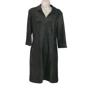 J McLaughlin Sz S Faux Suede Cadence Dress